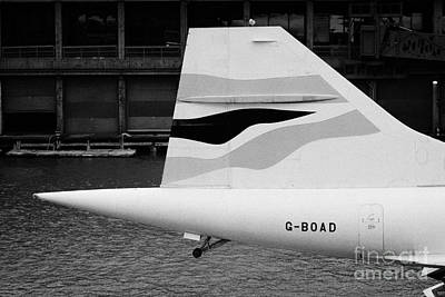 tailplane of the British Airways Concorde  Poster by Joe Fox