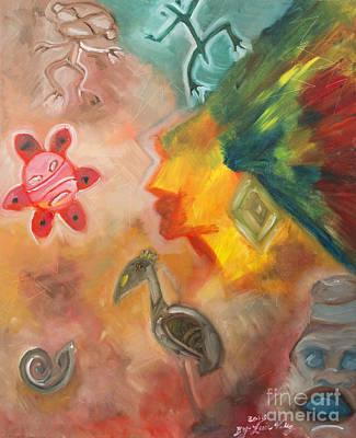Taino Symbol Poster by Luis Velez