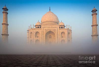 Taj Mahal In The Mist Poster by Inge Johnsson
