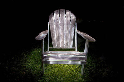 Adirondack Chair Painted With Light Poster