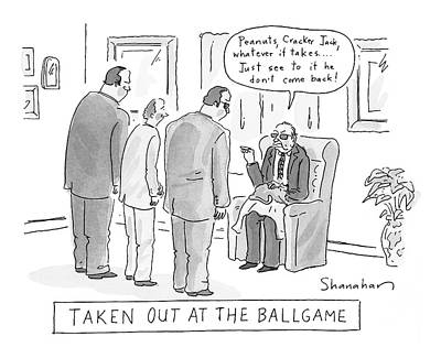 Taken Out At The Ballgame Poster by Danny Shanahan