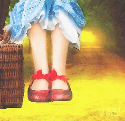 Taking Yellow Path Poster