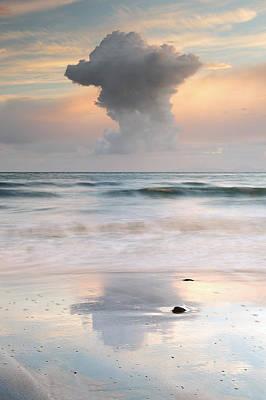 Talisker Bay At Sunset Poster by Grant Glendinning