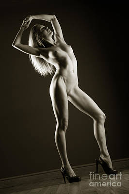 Tall And Nude Poster by John Tisbury