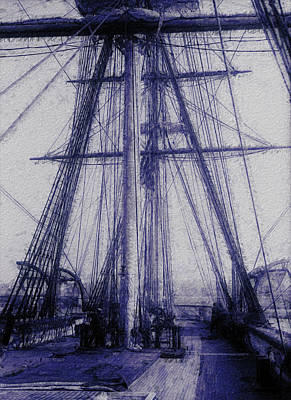 Tall Ship 2 Poster by Jack Zulli