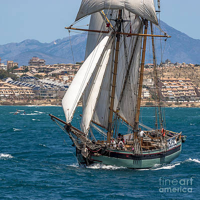 Tall Ship Alicante Poster by Pablo Avanzini
