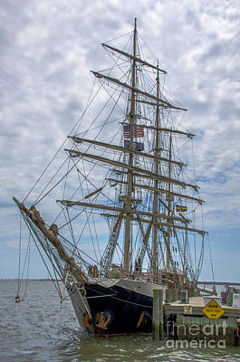 Poster featuring the photograph Tall Ship Gunilla Vertical by Dale Powell