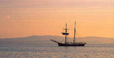 Tall Ship In The Baie De Douarnenez Poster by Panoramic Images