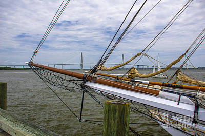 Poster featuring the photograph Tall Ships In Charleston by Dale Powell