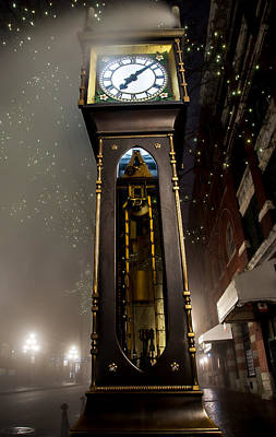 Tall Vancouver Steam Clock Poster