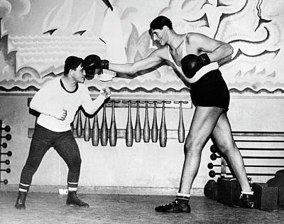 Tallest Boxer Gogea Mitu Poster by Underwood Archives