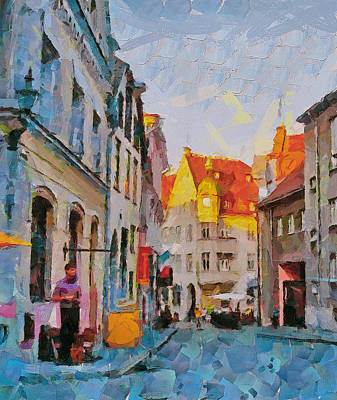 Tallinn City Scape Poster by Yury Malkov