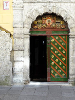 Tallinn Doorway Poster