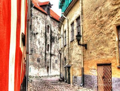 Tallinn Estonia Street Poster by Yury Bashkin