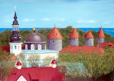 Tallinn Skyline Poster by David Henderson