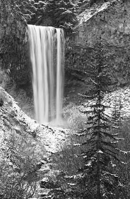 Tamanawas Falls In Winter Poster