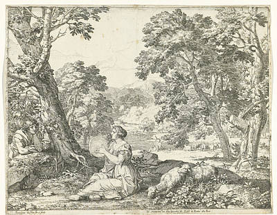 Tambourine Player, Franciscus De Neve, Giovanni Giacomo Poster