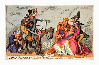 Taming Of The Shrew, Katharine And Petruchio, The Modern Poster by Litz Collection