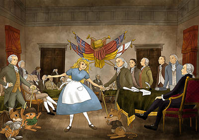Poster featuring the painting Tammy In Independence Hall by Reynold Jay