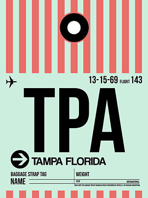 Tampa Airport Poster Poster by Naxart Studio