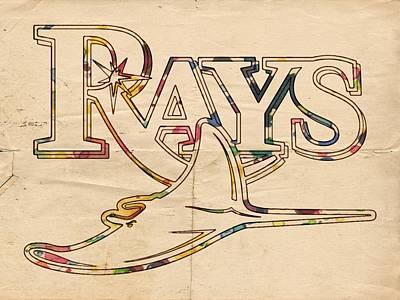 Tampa Bay Rays Logo Art Poster by Florian Rodarte