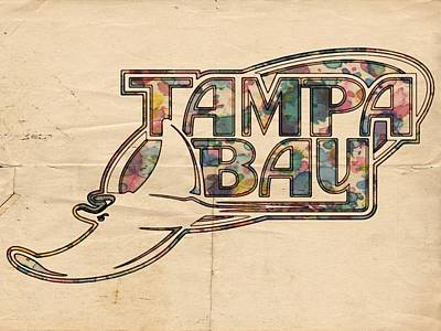 Tampa Bay Rays Poster Art Poster by Florian Rodarte