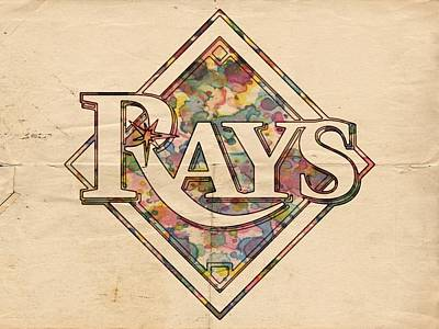 Tampa Bay Rays Vintage Art Poster by Florian Rodarte