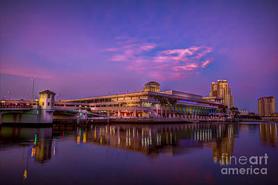 Tampa Convention Center At Dusk Poster by Marvin Spates