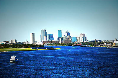Tampa Skyline Poster by Aimee L Maher Photography and Art Visit ALMGallerydotcom