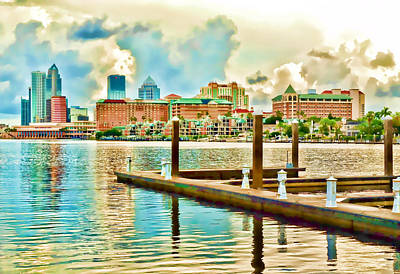 Tampa Skyline Poster by Robert Palmeri