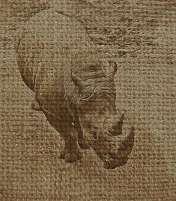 Tan Rhino Poster