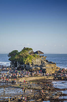 Tanah Lot Temple In Bali Indonesia Coast Poster