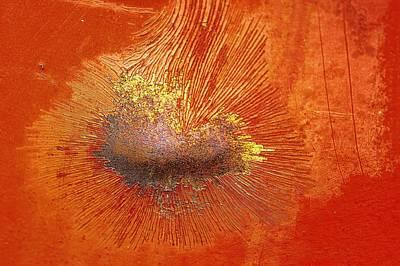 Tangerine Burst Poster