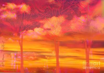 Tangerine Trees Marmalade Skies Poster by Diana Riukas