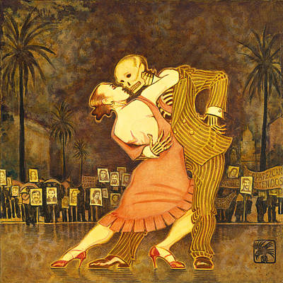Tango En La Plaza De Mayo Poster by Ruth Hooper