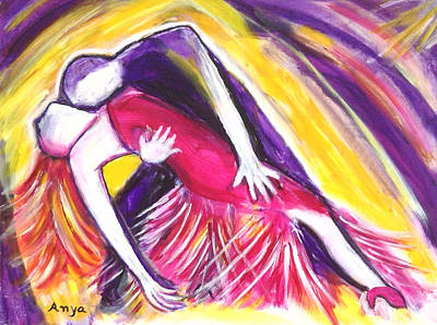 Poster featuring the painting Tango Love by Anya Heller