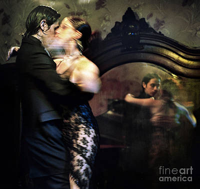 Tango - Mirrored Poster by Michel Verhoef