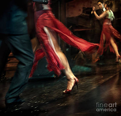 Tango Reflection Poster by Michel Verhoef