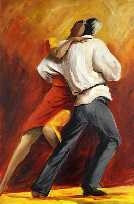 Poster featuring the painting Tango by Sheri  Chakamian
