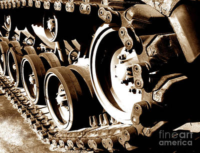 Tank Tracks Poster by Olivier Le Queinec
