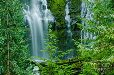 Pacific Northwest Waterfall Poster