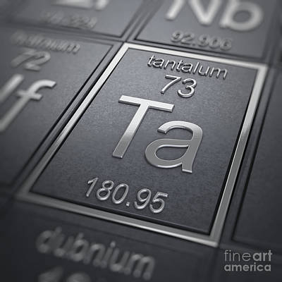 Tantalum Chemical Element Poster by Science Picture Co