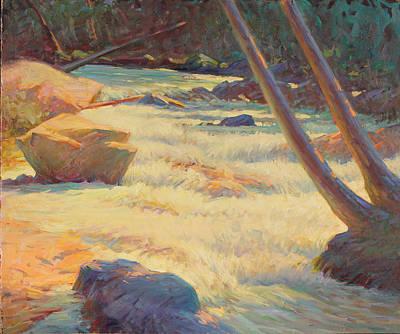 Taos Mountain Rapids Poster by Ernest Principato