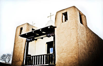 Taos Pueblo Church 3 Poster by Marilyn Hunt