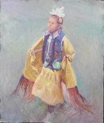 Taos Pueblo Princess Poster by Ernest Principato