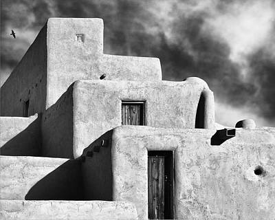 Taos Pueblo Stacks Poster