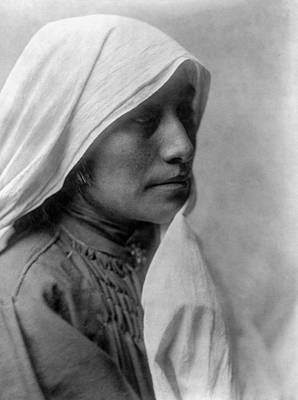 Taos Woman Circa 1905 Poster by Aged Pixel