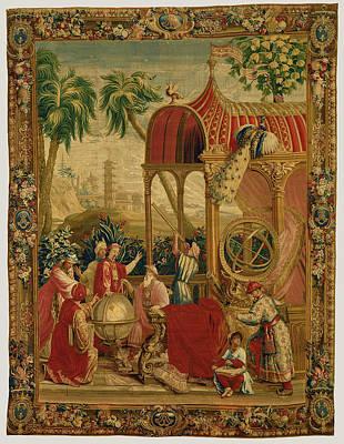 Tapestry Les Astronomes, From Lhistoire De Lempereur De La Poster by Litz Collection