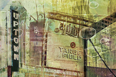 Target Field And Uptown Poster by Susan Stone
