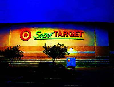 Poster featuring the digital art Target Super Store B by P Dwain Morris